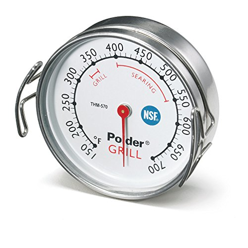 Polder Grill Surface Thermometer, Silver by Polder -