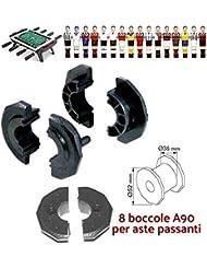 grandeemporio Calcio Balilla ricambi boccole A90 per Calcetto con aste uscenti Diametro mm.16, Confezione Otto (8) boccole.