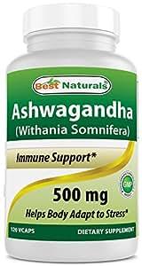 Best Naturals Ashwagandha 500 mg 120 Capsules