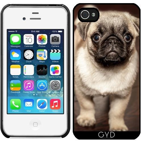 Leder Flip Case Tasche Hülle für Apple Iphone 7 / Iphone 8 - Niedliche Mops Hund by Grab My Art Starre Kunststoff