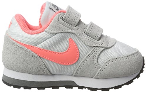 Nike Mädchen Md Runner 2 (Tdv) Turnschuhe Mehrfarbig (Plateado / Coral / Pure Platinum / Lava Glow / Cool Grey / White)