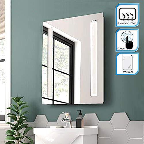 ELEGANT 500 X 700mm Illuminated LED Backlit Bathroom Mirror Light Sensor Touch Control With Demister Pad