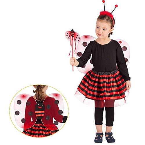 Costume Fee Coccinelle Enfant 3 à 6 ans Deguisement Anniversaire Fete - 772