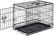 AmazonBasics Double Door Folding Metal Dog Crate Cage