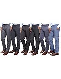 Indistar Combo Offer Mens Formal Trouser (Pack Of 6) - B01JLUTD48