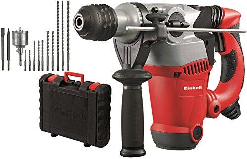 elektro bohrhammer Einhell Bohrhammer-Set RT-RH 32 (1250 W, 3,5 J, Bohrleistung 32 mm, SDS-Plus-Aufnahme, Metall-Tiefenanschlag, 10 Bohrer, Bohrkrone, 2 Meißel, Koffer)