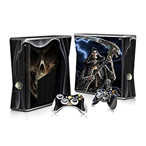 XBOX 360 Slim Skin Design Foils Aufkleber Schutzfolie Set – Grim Reaper Motiv