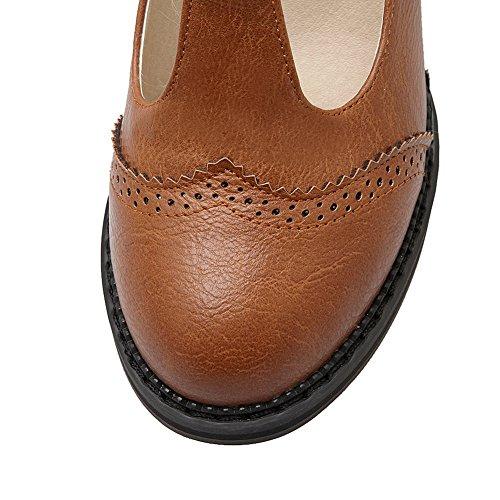 BalaMasa, tacco quadrato, punta tonda, in pompe-Shoes Brown