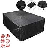 Voilamart Waterproof Rectangular Furniture Cover designed for Outdoor Garden Patio Rattan Dining sets, Cube Sets & Sofa Sets Protection, Black