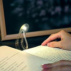 Idea Regalo - Luce segnalibro min Book LED flessibile Student lettura luce di notte