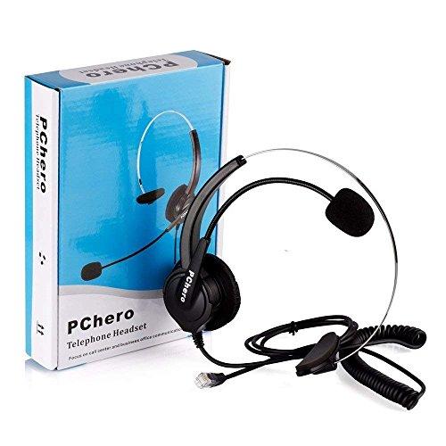 PChero®Reemplazo Auricular telefono Auricular de Teléfono Profesional Estéreo para Teléfono Fijo y Dispositivo Telefónico (Can no es compatible con Panasonic Cisco AVAYA)