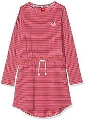 s.Oliver RED Label Mädchen Jerseykleid mit Glitzerstreifen pink Stripes 110.REG