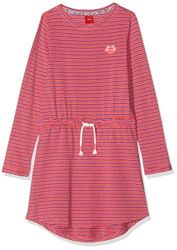 s.Oliver RED Label Mädchen Jerseykleid mit Glitzerstreifen pink Stripes 122.REG