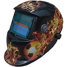 valianto Fire Flames oscurecimiento automático Solar Soldador Máscara Calavera Casco ...