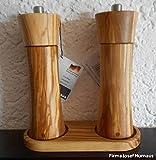 Zassenhaus Pfeffermühle und Salzmühle Set Frankfurt olive 18 cm mit Menage neu