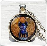 Pendentif scarabée égyptien, Égypte, collier scarabée Collier