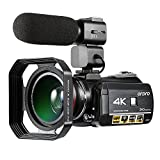 ORDRO AC3 4K Ultra HD 60FPS Video Camera with Wifi External Microphone