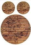 Zita`s Creative Reispapier A4 - Wooden Clock Butterfly. Motiv-Strohseide, Strohseidenpapier, Decoupage Papier