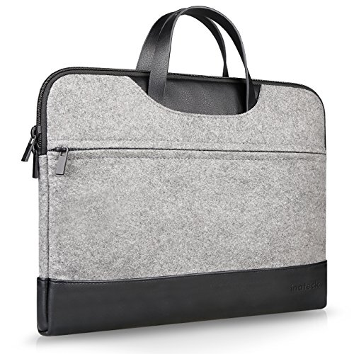 Inateck-133-Pulgadas-Funda-Protectora-de-Fieltro-Maletn-para-Ultraporttil-MacBook-Air-MacBook-Pro-MacBook-Pro-Retina-Gris