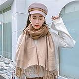 WSCY éCharpe d'hiver pour Femme, Cape ChâLe Oversize en Cachemire Chaud Et Confortable,D
