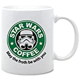 Star Wars May the Froth Be With You Funny Serie Kaffee Tasse–Keramiktasse von acen Studios–perfekte Valentines/Ostern/Sommer/Weihnachten/Geburtstag/Jahrestag Geschenk