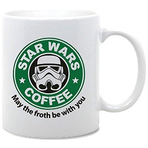 Star Kaffee Wars (Star Wars May the Froth Be With You Funny Serie Kaffee Tasse–Keramiktasse von acen Studios–perfekte Valentines/Ostern/Sommer/Weihnachten/Geburtstag/Jahrestag Geschenk)