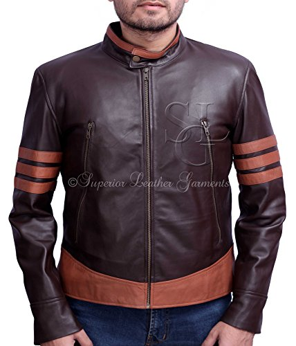 X-Men Wolverine Logans XO Replica Real Leather Jacket (Large)