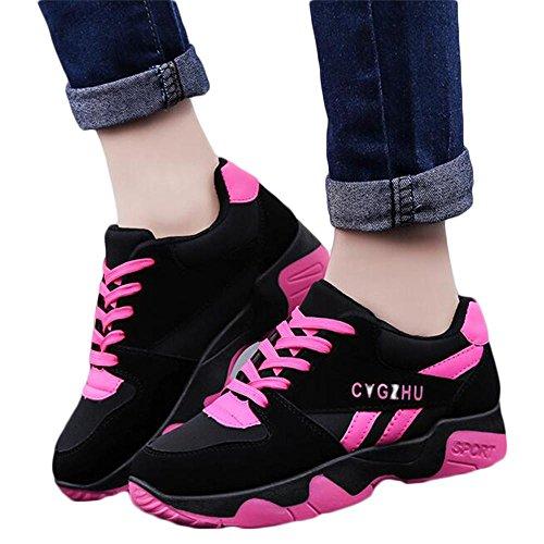 Mr. LQ - Chaussures et chaussures de sport décontractées pour femmes rose red