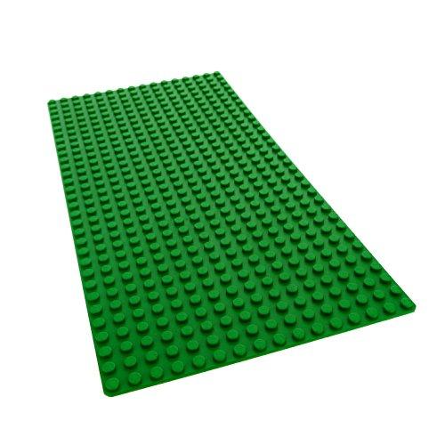 1 x Lego Bau Platte grün flach 32 x 16 Noppen Wiese Garten 5010 - 1 D14