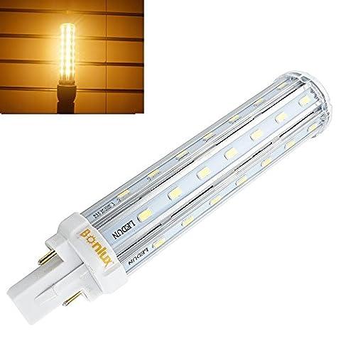 Bonlux 13W G24 LED PLC Ampoule Blanc Chaud 2800K 360 degrés universel G24d G24q de 2 broches 4 broches Base remplacement de 30W ampoule halogène