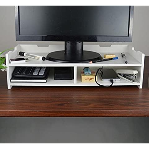 ZR Monitor stand. Aumento mensola. Mensola scrivania. Collo base del computer elevare il ripiano