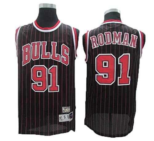 LLZYL NBA Retro Bull 91# Rodman All-Star-Trikot, Kühles, Atmungsaktives Material, Herren-Trikot, Damen-Trikot, Basketball-Shorts, T-Shirt-Trikot,M:175cm/65~75kg