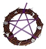 Limited Addition 20cm Pagan Wreath with 7 pagan charms and Purple glass beads