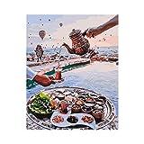 gaowei Photos Peinture DIY par Numéros Toile Peinture À l'huile Peinture Et Calligraphie Décor À La Maison pour Salon Mur Art 40x50cm