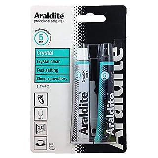 ARALDITE® Brand Araldite Crystal Epoxy Adhesive Glue 15 ml 2 Tubes ARA-400008