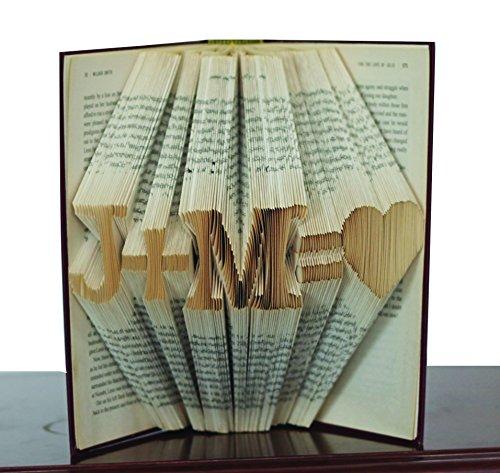 Boston Traders I Love You | Love You | gefaltet Buch Art | Paare Geschenk | Jahrestag Geschenk | Freund Freundin Geschenk | handgefertigt Geschenk