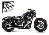 Auspuff Komplettanlage Falcon für Harley Davidson Sportster Forty-Eight 48 (XL 1200 X) 10-13