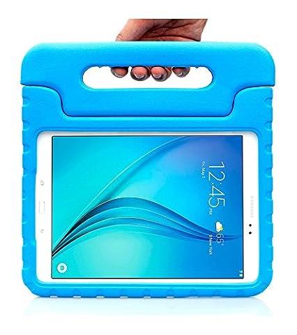 Samsung Galaxy Tab A 8.0 und 9.7 Zoll (2015 Release) Hülle mit Standfuß Halterung und leichtem gewicht. Tolle Tablet Schutzhülle / Gehäuse für Kinder (9.7 (Leichtem Polycarbonat-rahmen)