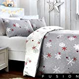 Fusion Christmas Snowflake Mikrowellen-Drehteller, Red, King