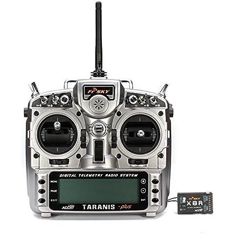Bluelover FrSky ACCST Taranis X9D PLUS 16CH transmisor de 2,4 GHz con X8R