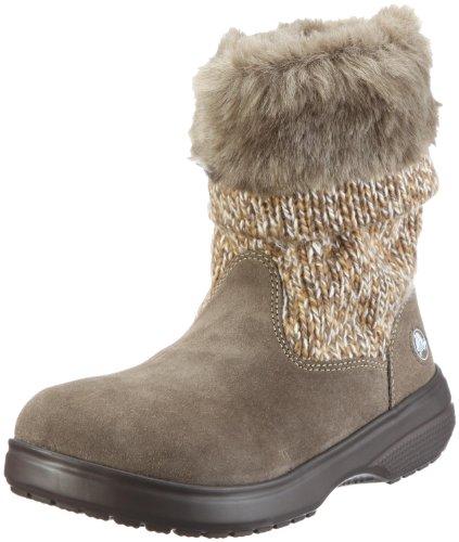 Crocs Cozycrocs Bootie - Botas de nieve, talla: 36, Color Gris (Grau/Canvas/Walnut bzw. Cnvs/Wal)