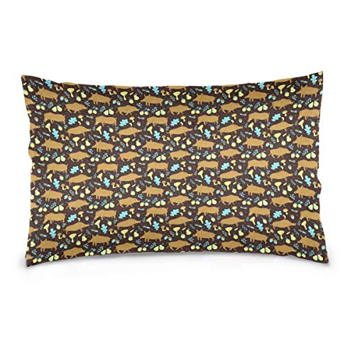 Rghkjlp Cushion Cute Boars Wild Pigs Kissen case Cases with Pleasing Feeling 20 x 30In -