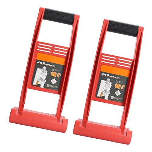 Fenteer 2 Stück Plattenheber Träger Plattenträger Plattenhalter, ideal für Gipsplatten,...