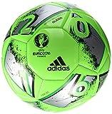 adidas Euro16 Glider Fußball, Solar Green/Silver Metallic/Dark Grey, 5