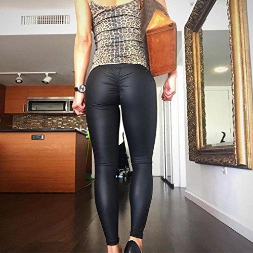 BeautyTop Yoga Pantaloni da Donna Uomo Pants Sportivi leggings Sport Running Yoga Fitness Pantaloni da atletica Pantalone Nero