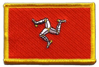 Aufnäher Patch Flagge Großbritannien Isle of Man - 8 x 6 cm