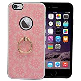 Digikart Hybrid Shock Proof Pink Mobile Back Cover Case with Ring for iPhone