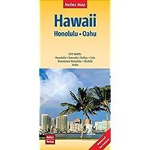 Nelles Map Landkarte Hawaii : Honolulu, Oahu: 1:150.000 | reiß- und wasserfest; waterproof and tear-resistant; indéchirable et imperméable; irrompible & impermeable