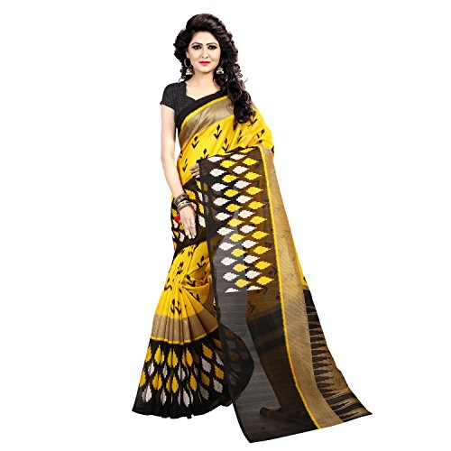 Vahni Women's Multi Colour Silk Bhagalpuri Saree With Blouse Material