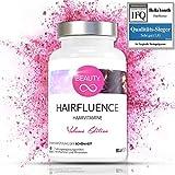 QUALITÄTSSIEGER 2018* » Haar/Hair Vitamine und Mineralstoffe für Frauen « Biotin 10mg Hochdosiert mit Zink, Selen - Tabletten gegen Haarausfall Frau - Vitamin B 7-60 Kapseln (vegan)